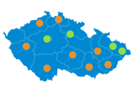 mapa poboček sivak